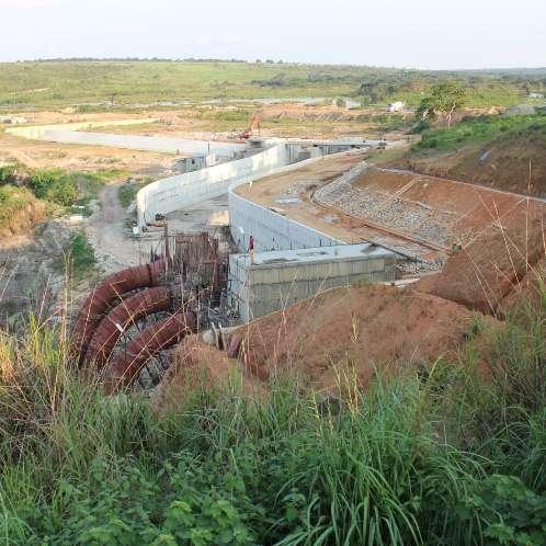 Construction du barrage et de la centrale de 9,6MW
